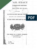 1791 Detail Exact de..l'Arrivée Du Roi