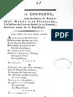 1793 Hymnes Et Couplets Chantés à l'Inauguration..