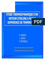 Etude thermodynamique d´un moteur stirling a faible difference de temperature