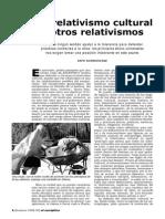 ARTÍCULO RELATIVISMOS Ee 03 Del Relativismo Cultural y Otros Relativismos