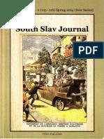 Sotirovic Corfu Declaration 1917 the South Slavic Journal in London Vol. 33, No 1-2, 2014