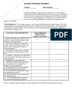 Operating Room cleaning  checklist