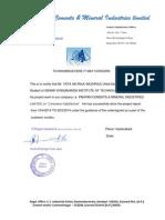 Company Certifacate 0f Sai