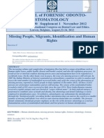 Missing People Migrants Identification Human Rights