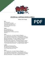 Hip Hop States & Capitals Lyrics Alabama Thru Georgia