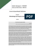 Metodologia Pesquisa Juridica Aula 2 Leitura Obrigatoria 1a3
