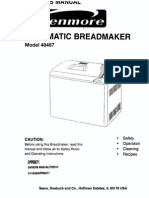 Kenmore Automatic Breadmaker Manual