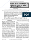Impact of Foreign Direct Investment on Unorganised Retail Sector of India - A Research Report
