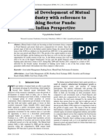 Growth and Development of Mutual Fund Industry with reference to Banking Sector Funds