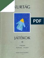 Kurtag - Jatekok Vol. 3