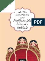 Alina Bronsky - Najljuća Jela Tatarske Kuhinje