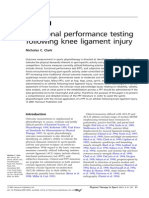 Functional Performance Testing of ACL Ligament