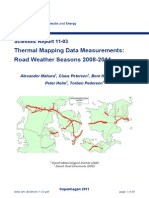 Thermal mapping data measurements DMI (Denmark)