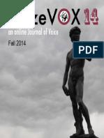 BlazeVOX 14 Fall 2014 | an online journal of voice