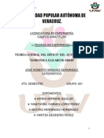 Teoría General Del Déficit Del Autocuidado.