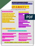 all university details