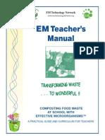 Effective Microorganisms for Your Garden; Teacher's Manual