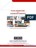 TBS Initial Review Form Australia