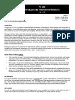PG103 - Intro IR Syallbus - Fall 2014