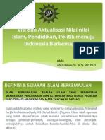 Bahan Pengajian Visi dan Aktualisasi Nilai-Nilai Islam, Pendidikan
