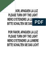 Apaguen La Luz