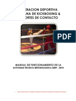 Manual Tecnico Federacion Deportiva Peruana de Kick Boxing 2009-2010