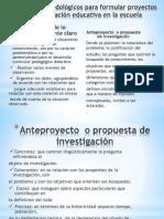 Elementos Metodológicos Para Formular Proyectos de Investigación Educativa