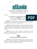 Ley Organica de Las Dependencias Federales.