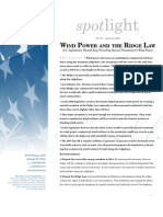 Wind Power and the Ridge Law
