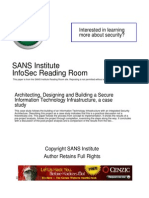 Architecting Designing Building Secure Information Technology Infrastructure Case Study 1261