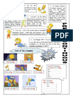 Present Continuous With the Simpsons-1