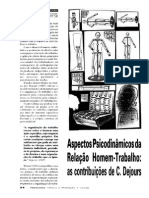 Pto Dejours Relacao Psicodinamica Trab e d