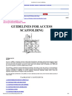 Guidelines for Access Scaffolding