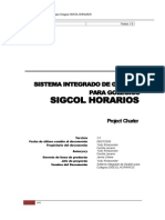 SIGCOL HORARIOS - Charter Del Proyecto