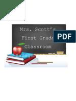 Mrs. Scott's Classroom Management Plan