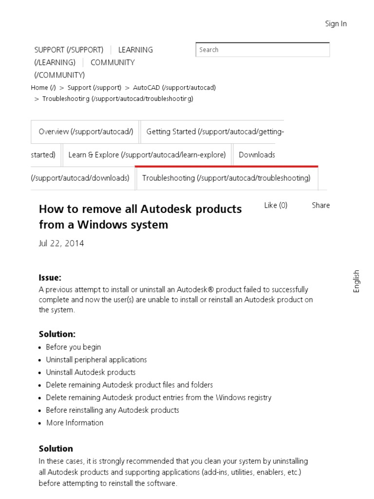 How to Remove All Autodesk Products From a Windows System _