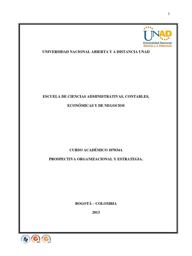 Modulo Prospectiva Organizacional y Estrategica Actualizado 2013