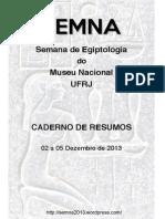 Articule - SEMNA 2013 Museu Nacional Brazil - Caderno de Resumos
