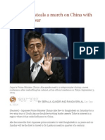 Japan's Abe Steals a March on China With South Asia Tour