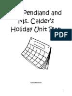 Holiday Unit Plan Standard 7