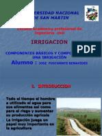 Comceptos Basicos y Componentes de Una Irrigacion