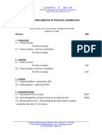 EMOLUMENTOS de TRADUÇÃO JURAMENTADA -  Laerte J Silva Jucemg No. 768.09