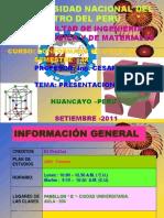 Presentacion Del Curso-conformado 2010- II