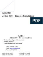 CHEE 400 Process Simulation F2014 08-25-2014(1)