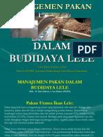 Presentasi Manajemen Pakan Dalam Budidaya Lele