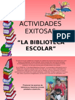 Presentacion actividades exitosas biblioteca escolar