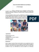 Comidas Tipicas Por Departamento de Guatemala