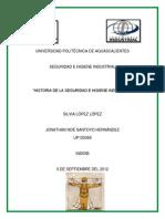 Historia de Seguridad e Higiene Industrial.