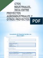 Proyectos Agroindustriales, Diferencia Entre Proyectos Agroindustriales y