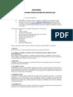 Normas de Publicación Mathema